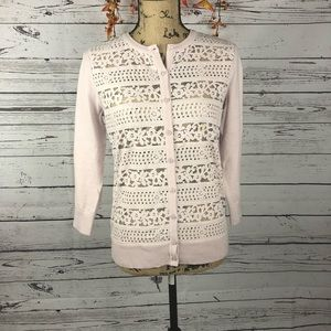 Ann Taylor Loft Detailed lace cardigan. NWT